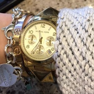 Michael Kors watch, box and extra links EUC